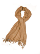 Sakkas Large Soft Silky Pashmina Shawl Wrap Scarf Stole in Solid Colors