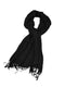 Sakkas Large Soft Silky Pashmina Shawl Wrap Scarf Stole in Solid Colors#color_Black