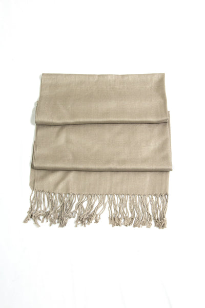 group-Latte (Sakkas Large Soft Silky Pashmina Shawl Wrap Scarf Stole in Solid Colors)
