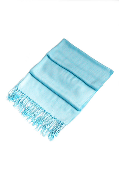 "group-Aqua (Sakkas 78"" X 28"" Rayon from Bamboo Soft Solid Pashmina Feel Shawl / Wrap / Stole)"