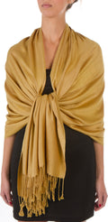 "Sakkas 78"" X 28"" Rayon from Bamboo Soft Solid Pashmina Feel Shawl / Wrap / Stole#color_Army Green"