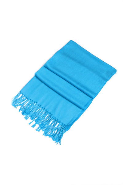 "group-Azure Blue (Sakkas 78"" X 28"" Rayon from Bamboo Soft Solid Pashmina Feel Shawl / Wrap / Stole)"