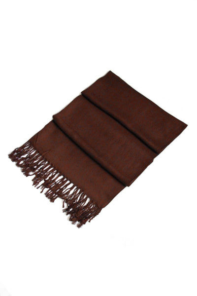 "group-Chocolate Brown (Sakkas 78"" X 28"" Rayon from Bamboo Soft Solid Pashmina Feel Shawl / Wrap / Stole)"