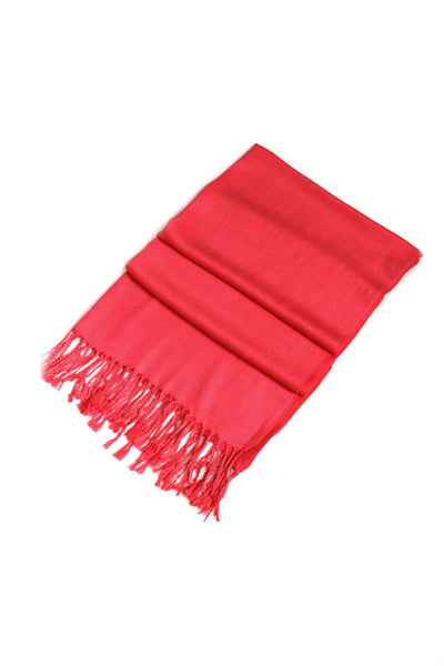 "group-Coral (Sakkas 78"" X 28"" Rayon from Bamboo Soft Solid Pashmina Feel Shawl / Wrap / Stole)"