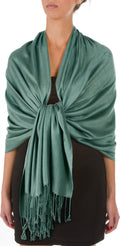 "Sakkas 78"" X 28"" Rayon from Bamboo Soft Solid Pashmina Feel Shawl / Wrap / Stole#color_Forest Green"