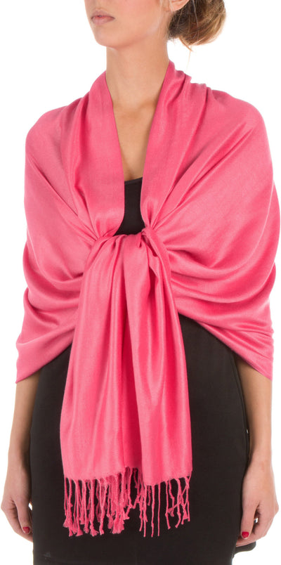 "group-Fuchsia (Sakkas 78"" X 28"" Rayon from Bamboo Soft Solid Pashmina Feel Shawl / Wrap / Stole)"