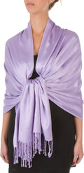 "Sakkas 78"" X 28"" Rayon from Bamboo Soft Solid Pashmina Feel Shawl / Wrap / Stole#color_Lavender"