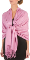 "Sakkas 78"" X 28"" Rayon from Bamboo Soft Solid Pashmina Feel Shawl / Wrap / Stole#color_Mauve"