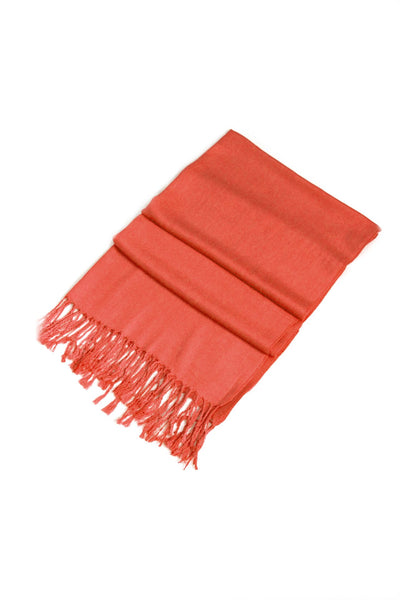 "group-Pumpkin (Sakkas 78"" X 28"" Rayon from Bamboo Soft Solid Pashmina Feel Shawl / Wrap / Stole)"
