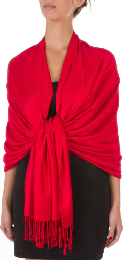 "group-Red (Sakkas 78"" X 28"" Rayon from Bamboo Soft Solid Pashmina Feel Shawl / Wrap / Stole)"