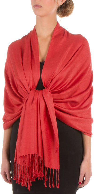 "group-Rust (Sakkas 78"" X 28"" Rayon from Bamboo Soft Solid Pashmina Feel Shawl / Wrap / Stole)"