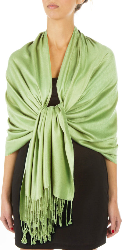 "group-Springgreen (Sakkas 78"" X 28"" Rayon from Bamboo Soft Solid Pashmina Feel Shawl / Wrap / Stole)"