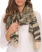 Sakkas Reiley Long Wide Floral Printed Patterened Fringe Pashmina Shawl / Scarf#color_Black / Khaki