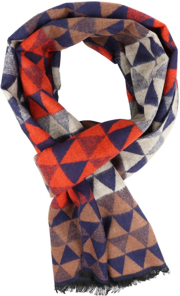 Sakkas IIvy Long Mid Weight Patterned Multi Colored UniSex Cashmere Feel Scarf