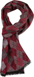 Sakkas Ezel Long Warm Argyle Patterned UniSex Cashmere Feel Scarf#color_Pink