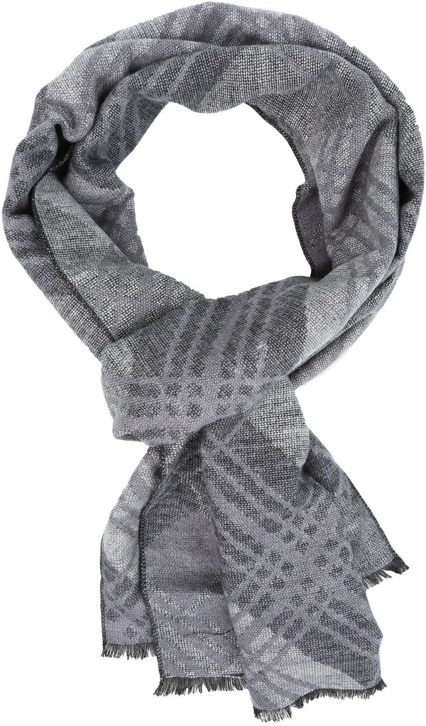 Sakkas Todaya Long Multi Colored Diamond Patterned UniSex Cashmere Feel Scarf#color_Black
