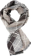 Sakkas Todaya Long Multi Colored Diamond Patterned UniSex Cashmere Feel Scarf#color_Black / Brown