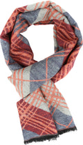 Sakkas Todaya Long Multi Colored Diamond Patterned UniSex Cashmere Feel Scarf#color_Orange