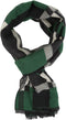 Sakkas Cayla Long Checker Box Lined Design Patterned UniSex Cashmere Feel Scarf#color_Green