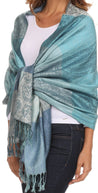 Sakkas Avril colorful allover Paisley Pashmina/ Shawl/ Wrap/ Stole