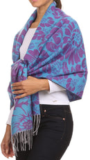 Sakkas Albany colorful floral double layer Pashmina/ Shawl/ Wrap/ Stole