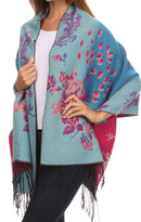 Sakkas Ontario double layer floral Pashmina/ Shawl/ Wrap/ Stole with fringe