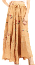 Sakkas Moon Dance Gypsy Boho Skirt#color_Beige