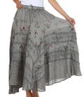Sakkas Moon Dance Gypsy Boho Skirt#color_Charcoal