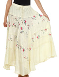 Sakkas Moon Dance Gypsy Boho Skirt#color_Ivory