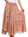Sakkas Moon Dance Gypsy Boho Skirt#color_Light Brown
