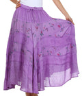 Sakkas Moon Dance Gypsy Boho Skirt#color_Purple