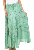 Sakkas Moon Dance Gypsy Boho Skirt#color_Spearmint