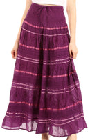 Sakkas Lace and Ribbon Peasant Boho Skirt