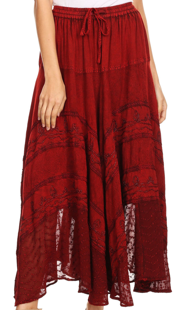 Sakkas Ivy Maiden Boho Skirt#color_Cayenne