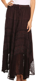 Sakkas Ivy Maiden Boho Skirt#color_Chocolate