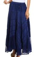 Sakkas Ivy Maiden Boho Skirt#color_Navy