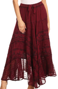 Sakkas Ivy Maiden Boho Skirt#color_Wine
