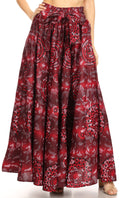 Sakkas Asma Convertible Traditional Wax Print Adjustable Strap Maxi Skirt | Dress#color_15-Multi