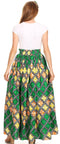 Sakkas Asma Convertible Traditional Wax Print Adjustable Strap Maxi Skirt | Dress