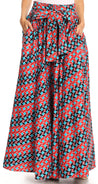 group-2293-Red / Turquoise (Sakkas Asma Convertible Traditional Wax Print Adjustable Strap Maxi Skirt | Dress)