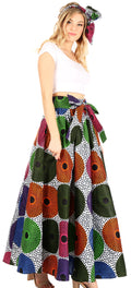Sakkas Asma Convertible Traditional Wax Print Adjustable Strap Maxi Skirt | Dress#color_67-Multi
