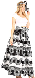 Sakkas Asma Convertible Traditional Wax Print Adjustable Strap Maxi Skirt | Dress#color_79-Multi