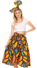 Sakkas Celine African Dutch Ankara Wax Print Full Circle Skirt#color_50-Multi