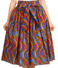 Sakkas Celine African Dutch Ankara Wax Print Full Circle Skirt#color_534-BlueRed