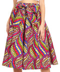 Sakkas Celine African Dutch Ankara Wax Print Full Circle Skirt#color_53F-Multi
