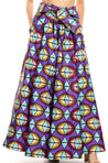 group-126-PurpleAqua (Sakkas Ami Women's Maxi Long African Ankara Print Skirt Pockets & Elastic Waist)