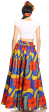 group-130-RoyalMulti (Sakkas Ami Women's Maxi Long African Ankara Print Skirt Pockets & Elastic Waist)