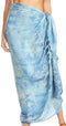 Sakkas Lygia Women's Summer Floral Print Sarong Swimsuit Cover up Beach Wrap Skirt