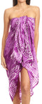 Sakkas Lygia Women's Summer Floral Print Sarong Swimsuit Cover up Beach Wrap Skirt#color_Purple