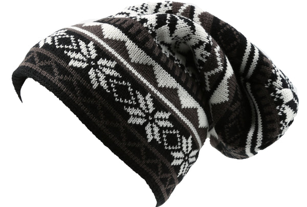 Sakkas Ciro Warm and Soft Everyday Casual Slouchy Beanie Mink Like Lining#color_YC16143-Black